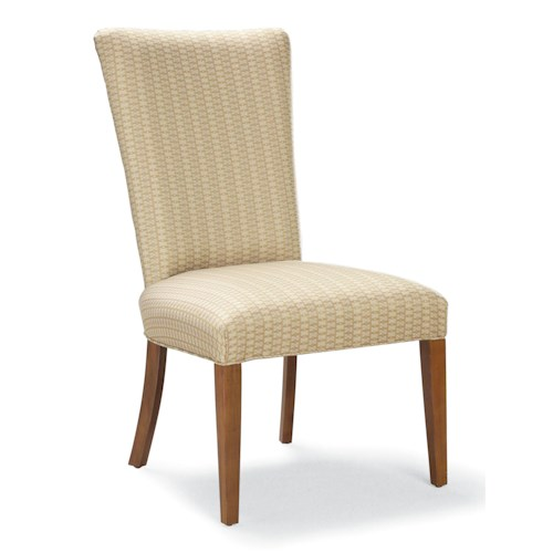 Fairfield Chairs Contemporary Side Chair with Wood Legs