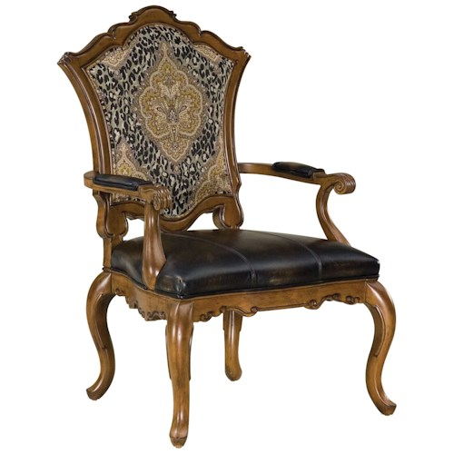 Fairfield Chairs Upholstered Victorian Carved Chair