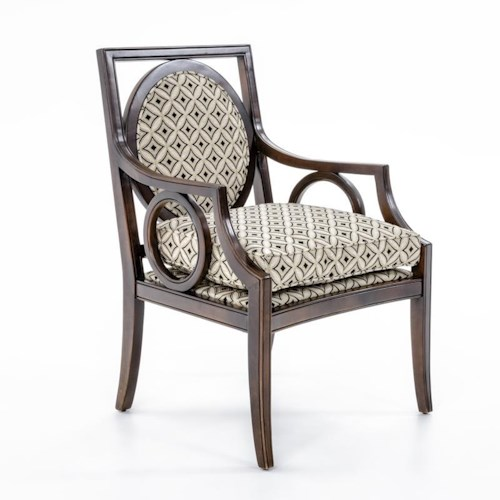 Fairfield Chairs Exposed Wood Chair with Circular Designs