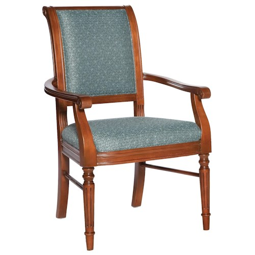Fairfield Chairs Picture Frame Arm Chair with Exposed Wood Legs