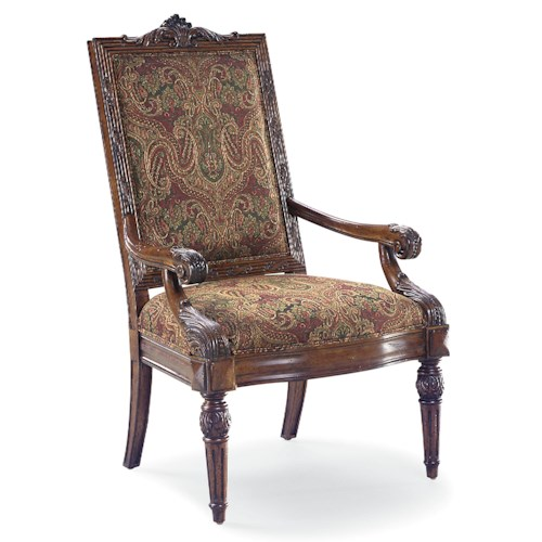 Fairfield Chairs Elegant Exposed Wood Chair with Rectangular Back