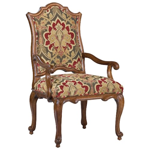 Fairfield Chairs Victorian Accent Arm Chair with Curved Seat Back
