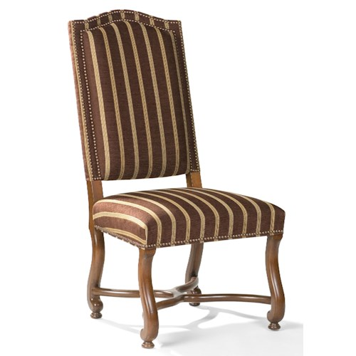 Fairfield Chairs Traditional Exposed-Wood Side Chair with Scalloped Legs