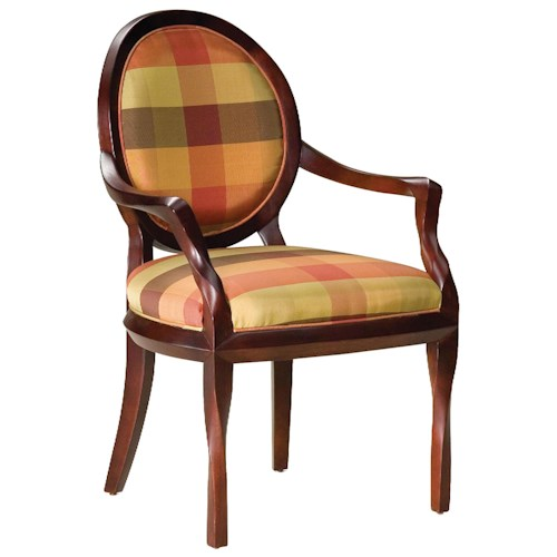Fairfield Chairs Oval Back Occasional Chair with Twisted Wood Details