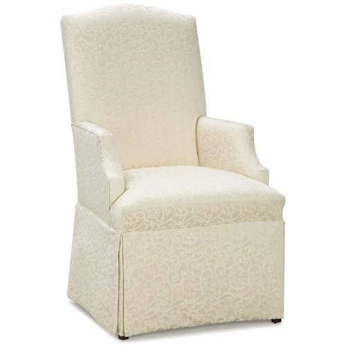 Fairfield Chairs Upholstered Arm Chair with Traditional Skirt