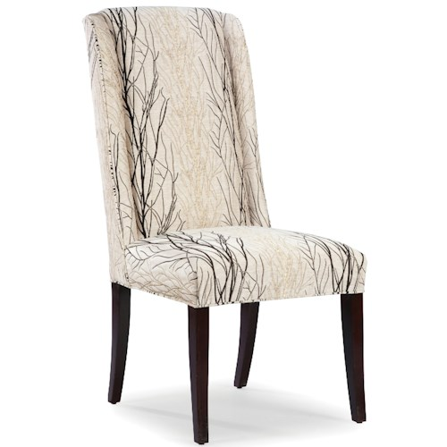 Fairfield Chairs Upholstered Tight Back Occasional Side Chair