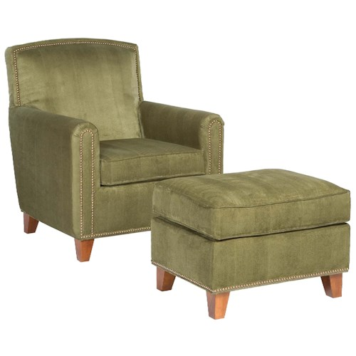 Fairfield Chairs Plush Upholstered Chair & Ottoman Set