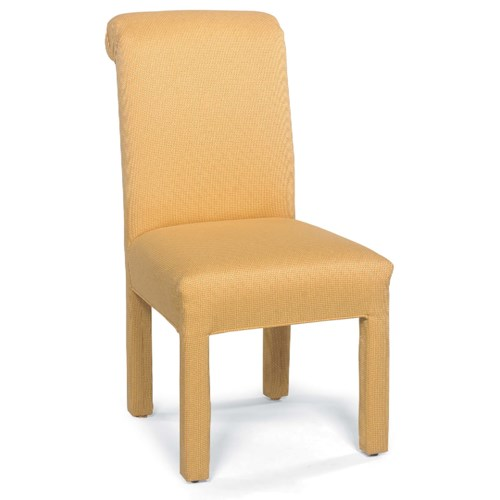 Fairfield Chairs Stationary Armless Chair with Upholstered Legs