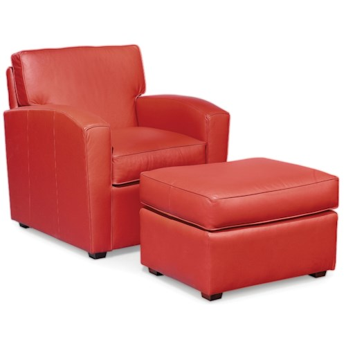 Fairfield Chairs Upholstered Lounge Chair & Ottoman
