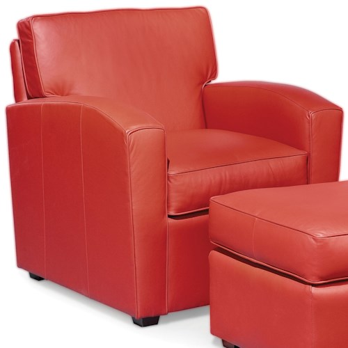 Fairfield Chairs Upholstered Semi-Attached Back Lounge Chair