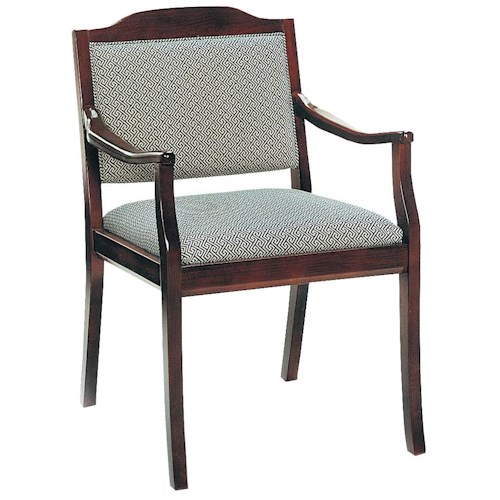 Fairfield Chairs Casual Exposed Wood Accent Chair
