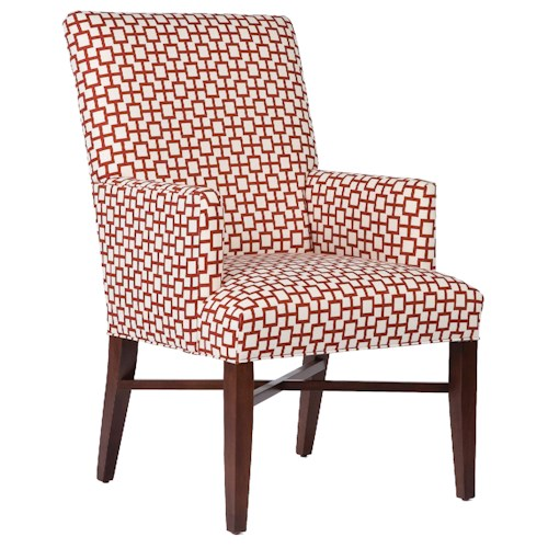 Fairfield Chairs Contemporary Accent Chair with Decorative Stretcher