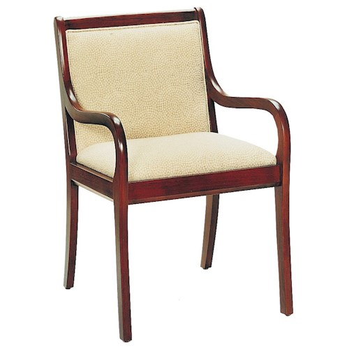 Fairfield Chairs Casual Curved Arm Chair