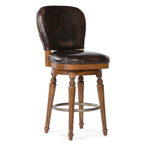 Fairfield Essentials Traditional Counter Stool with Upholstered Back and Seat