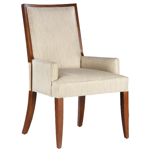 Fairfield Fairfield Dining Chairs Contemporary Dining Room Arm Chair with Exposed Wood Accents