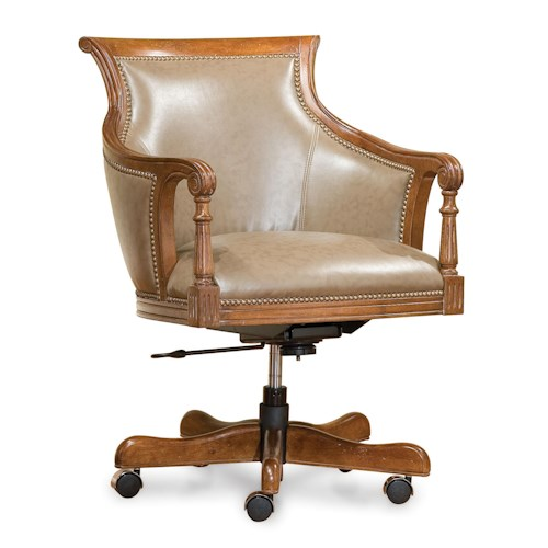 Fairfield Office Furnishings Swivel Chair with Nailhead Trim