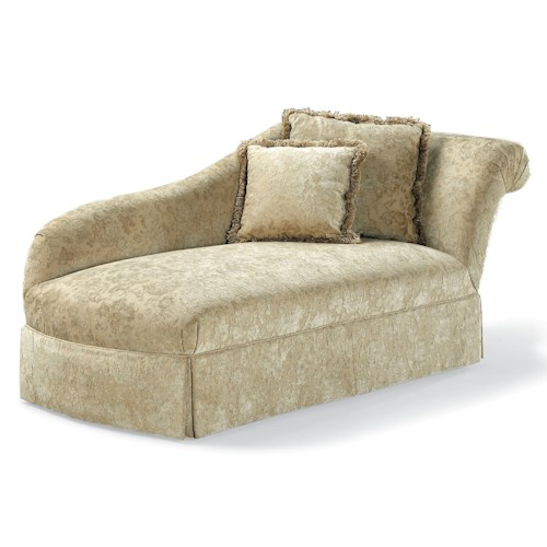 Fairfield Sofa Accents Traditional Chaise with Rolled Back and Skirt