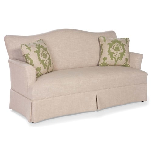 Fairfield Sofa Accents Skirted Camel Back Sofa