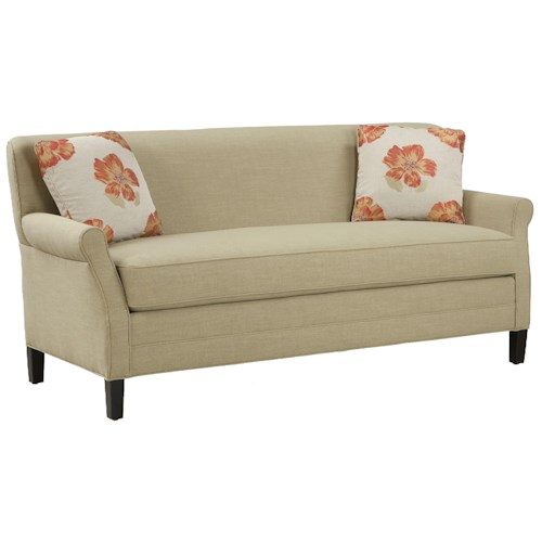 Fairfield Sofa Accents Simple and Elegant Un-Cluttered Sofa with Single Seat Cushion