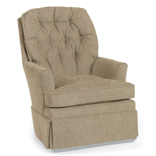 Fairfield Swivel Accent Chairs Swivel Rocker with Button-Tufted Back