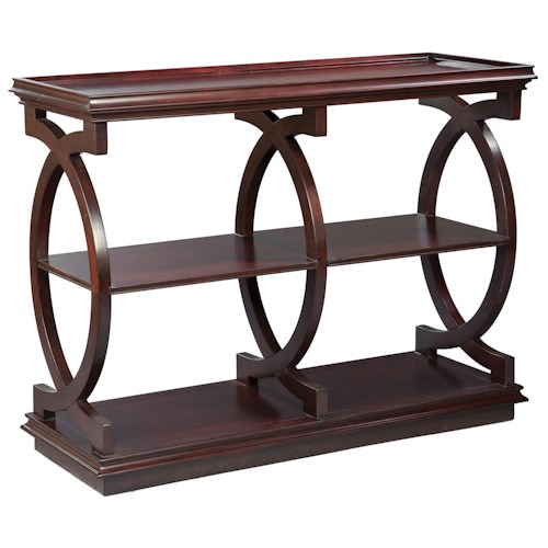 Fairfield Tables Traditional Styled Sofa Table with Smooth Curving Design