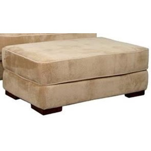 Fairmont Designs Cooper Casual Ottoman with Wooden Block Feet