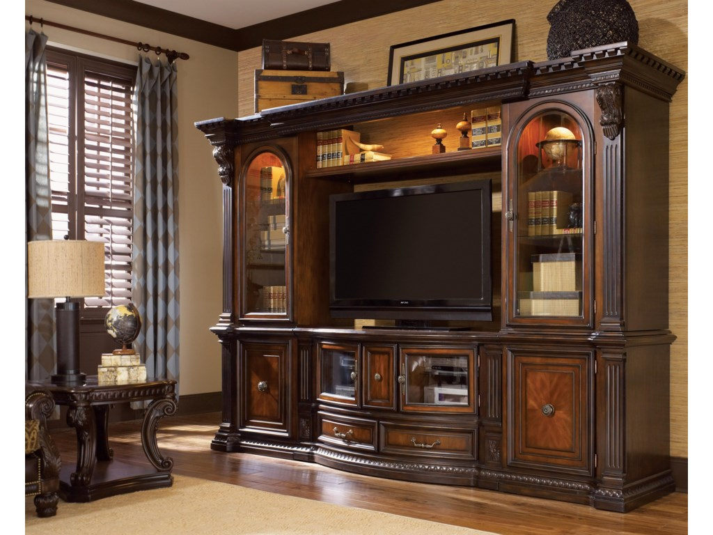 Shown as Entertainment Center in Room Setting with End Table