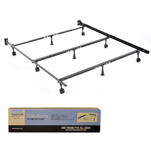 Morris Home Furnishings Bedding Support Solutions Twin - Cal King Compact Universal Folding Bed Frame