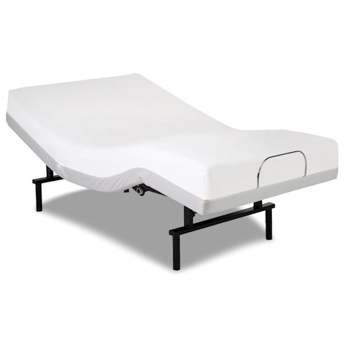 Morris Home Furnishings Bedding Support Vibrance Twin XL Adjustable Bed Base with Head and Foot Articulation
