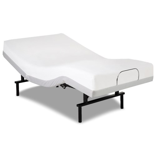 Morris Home Furnishings Bedding Support Vibrance Queen Adjustable Bed Base with Head and Foot Articulation