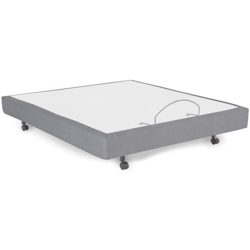 Morris Home Furnishings Bedding Support Simplicity 2.0 Queen Adjustable Bed Base with Full Body Massage and Wireless Remote
