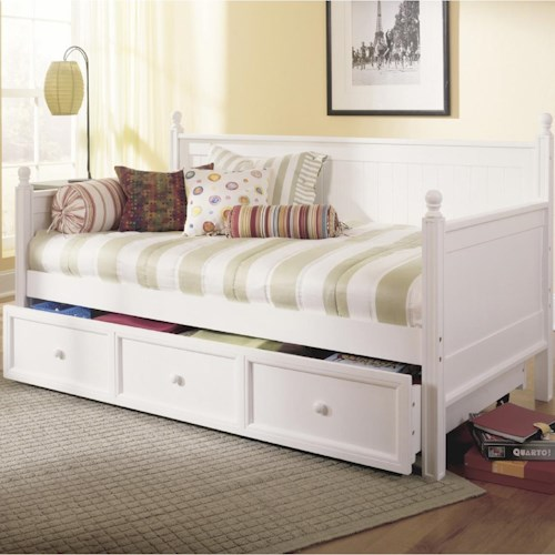 Morris Home Furnishings Casey II Daybed with Trundle with Slat Design