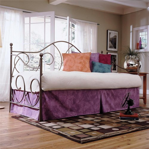 Fashion Bed Group Daybeds Caroline Daybed w/ Linkspring