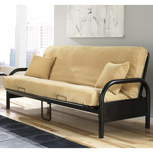 Fashion Bed Group Futons  Saturn Futon w/ Khaki Cotton/Foam Mattress