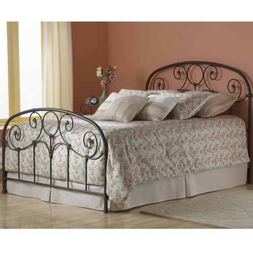 Morris Home Furnishings Grafton King Bed Without Frame and with Scroll Work