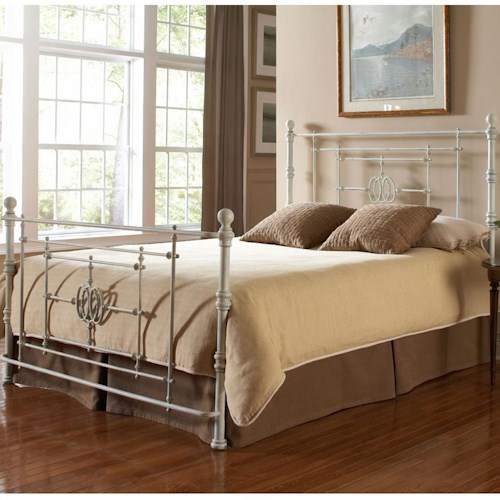 Morris Home Furnishings Lafayette King Bed Without Frame and with Oval Motif