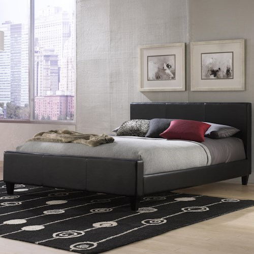 Morris Home Furnishings Leather Queen Euro Bed