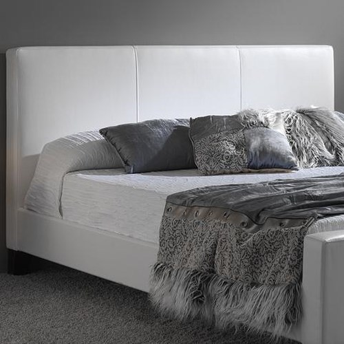Fashion Bed Group Leather Queen Euro Headboard