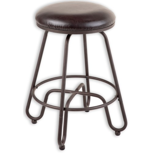 Morris Home Furnishings Metal Barstools Transitional Denver Metal Barstool
