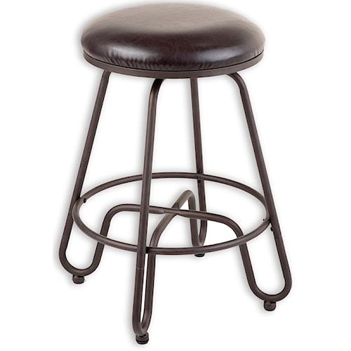Morris Home Furnishings Metal Barstools Transitional Denver Metal Barstool