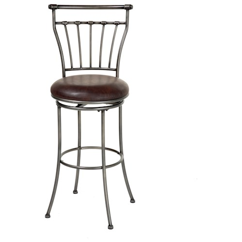 Morris Home Furnishings Metal Barstools Transitional Topeka Metal Barstool