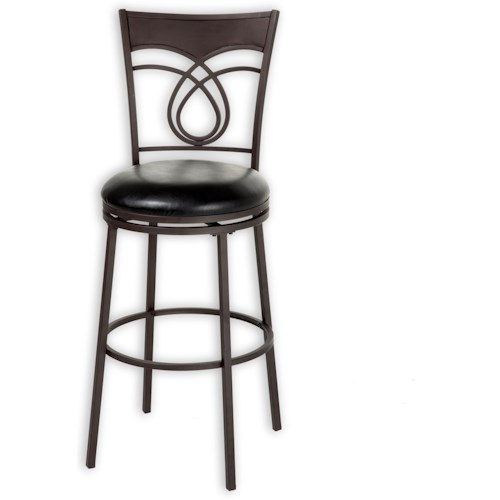 Morris Home Furnishings Metal Barstools Transitional Madison Metal Barstool