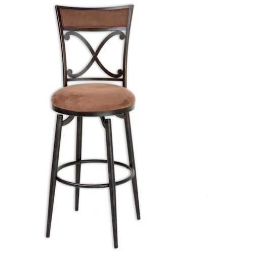 Morris Home Furnishings Metal Barstools Transitional Montgomery Metal Barstool