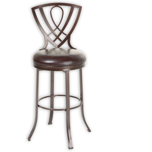 Fashion Bed Group Metal Barstools Transitional Lincoln Metal Barstool