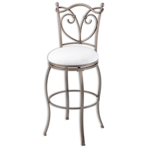 Morris Home Furnishings Metal Barstools Transitional Raleigh Metal Barstool