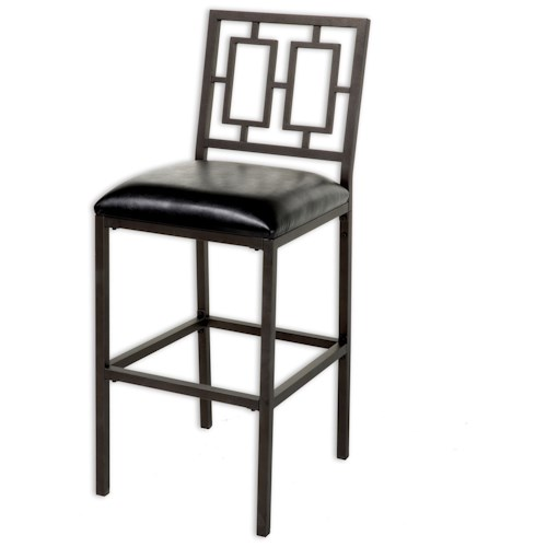 Fashion Bed Group Metal Barstools Contemporary Lansing Metal Barstool