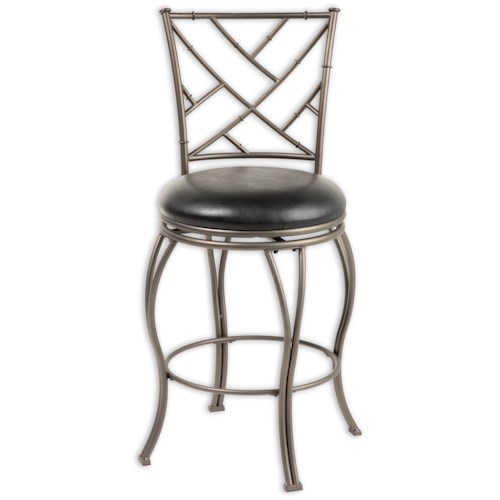 Fashion Bed Group Metal Barstools Transitional Honolulu Metal Barstool