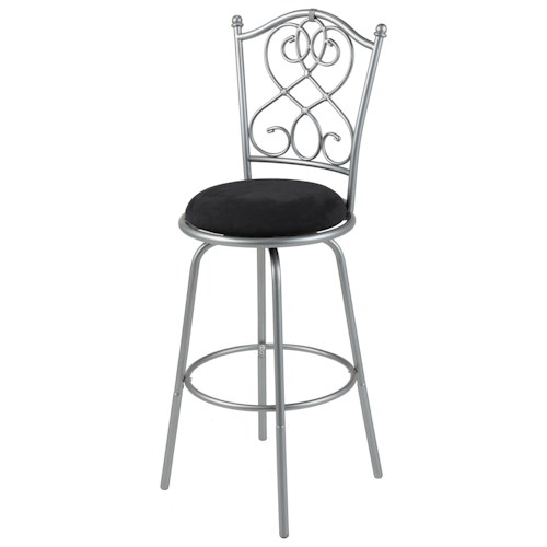 Morris Home Furnishings Metal Barstools Transitional Atlanta Metal Barstool