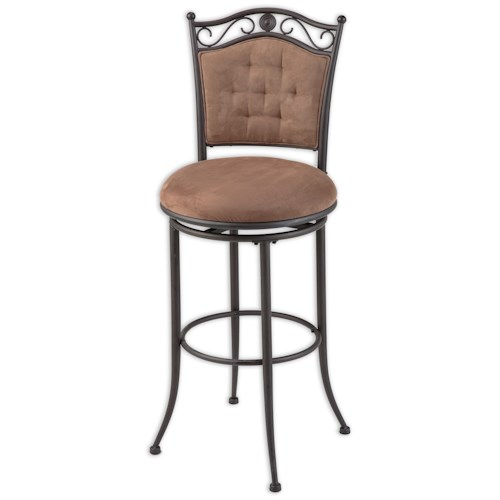Morris Home Furnishings Metal Barstools Traditional Helena Metal Barstool