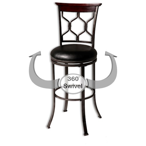 Morris Home Furnishings Metal Barstools Contemporary Tallahassee Wood and Metal Barstool